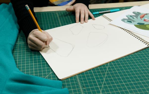 Making Bulbasaur cosplay spot patterns