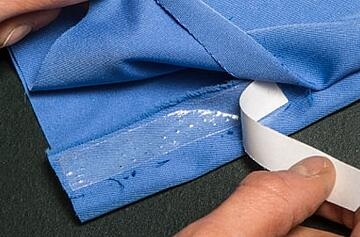 CosBond Attach & Build double sided adhesive sheets on fabric