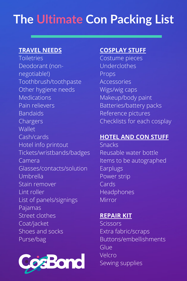 The Ultimate Con Packing List